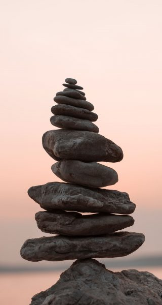 A picture of balancing rocks on top of each another